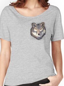 Wolf Pocket Tee Women's Relaxed Fit T-Shirt