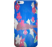 Floral in Red, White, and Blue iPhone Case/Skin