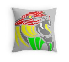 Reggae Music Cool Lion Reggae Colors T Shirts and Stickers Throw Pillow