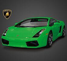 Green Lamborghini Gallardo 2003 by Davrod