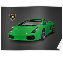 Green Lamborghini Gallardo 2003 Poster
