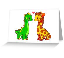 Dinosaur x Giraffe Greeting Card