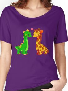 Dinosaur x Giraffe Women's Relaxed Fit T-Shirt