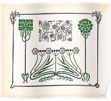 Maurice Verneuil Georges Auriol Alphonse Mucha Art Deco Nouveau Patterns Combinaisons Ornementalis 0030 Poster