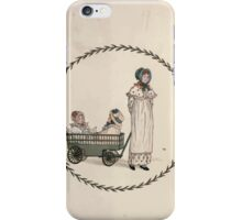 LIttle Ann and Other Poems by Jane and Ann Taylor art Kate Greenaway 1883 0005 Frontpiece iPhone Case/Skin