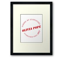 Olivia Pope - The School of Gladiators - Red Framed Print