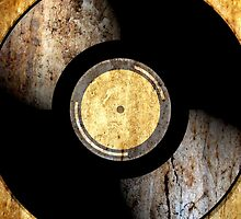 Vintage Vinyl Record Rust Texture - RETRO MUSIC DJ! by ddtk