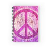 Peace Sign - Grunge Texture with Scratches Spiral Notebook