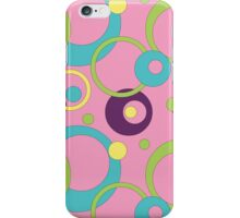 Funky Pink Circles iPhone Case/Skin