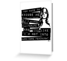 Christina Ricci Greeting Card