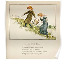 The April Baby's Book of Tunes by Elizabeth art Kate Greenaway 1900 0085 Jack and Jill Poster