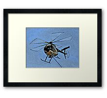 ONE OF THE HUGHES 500 HELICOPTERS Framed Print