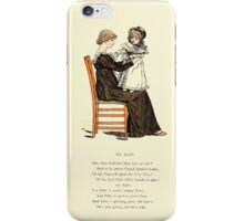 Marigold Garden Pictures and Rhymes Kate Grenaway 1900 0025 To Baby iPhone Case/Skin