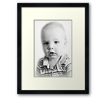 Jeremy's Portrait Framed Print