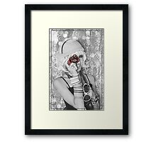 Girl With Red Camera - Argentina Framed Print