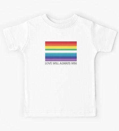 LOVE WILL ALWAYS WIN - EQUALITY Kids Tee