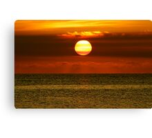 Antigua Sunset Canvas Print