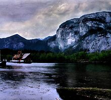 Afloat Under the Chief, Squamish, British Columbia by Wayne King