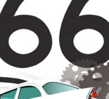Route 66 American Made Sticker