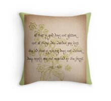 Not All Those Who Wander - Floral/Vintage Throw Pillow