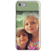 Summer Girls. Frangipanis On Their Hair iPhone Case/Skin