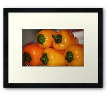 fresh yellow peppers Framed Print