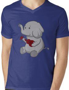 Elephant Loves Her Ukulele  Mens V-Neck T-Shirt