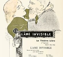 Alphonse Marie Mucha Maillard, Léon Menus and Programs, 1898 0428 L'ame Invisible Thatre Libre by wetdryvac