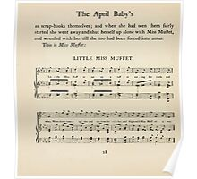 The April Baby's Book of Tunes by Elizabeth art Kate Greenaway 1900 0050 Little Miss Muffet Poster
