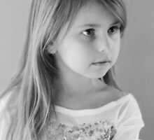 Girl Portrait in Black and White by Evita