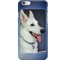 White German Shepherd Dog Portrait iPhone Case/Skin