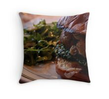 Meatball Sub Throw Pillow