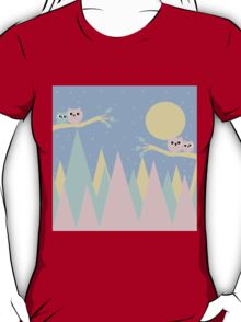 moutains and owls T-Shirt