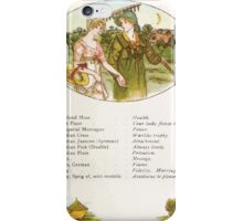 Language of Flowers Kate Greenaway 1884 0027 Descriptions of Specific Flower Significations iPhone Case/Skin