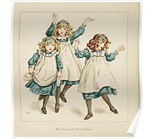 The April Baby's Book of Tunes by Elizabeth art Kate Greenaway 1900 0046 The Strains of Polly Flinders Poster