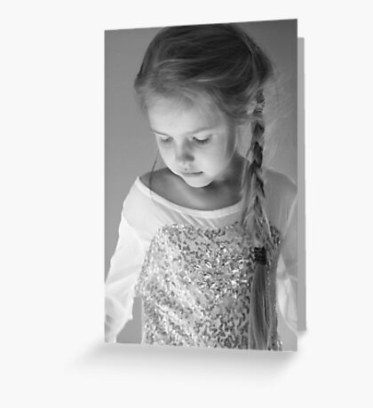 A Pensive Moment In Black And White Greeting Card