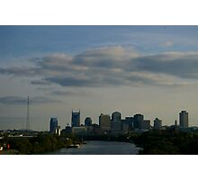 Buildings and River front in Tennessee  Photographic Print
