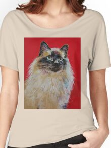 Siamese Cat Portrait Women's Relaxed Fit T-Shirt