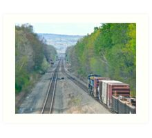 Westbound From Selkirk Train Yard - New York © 2010 Art Print