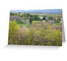 Spring View into Twin Pines Valley Greeting Card