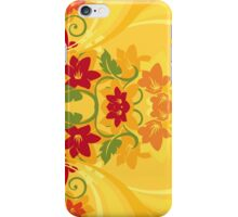 Sunny Summer Yellow Floral Pattern iPhone Case/Skin
