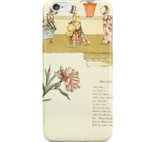 Marigold Garden Pictures and Rhymes Kate Grenaway 1900 0034 Tip a Toe iPhone Case/Skin