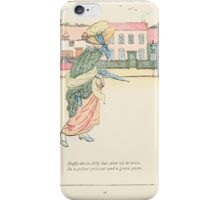Mother Goose or the Old Nursery Rhymes by Kate Greenaway 1881 0020 Duffy Down Dilly iPhone Case/Skin