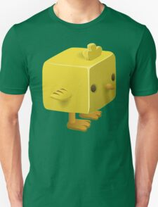 Blocky Baby Chick, Chicken Illustration Unisex T-Shirt