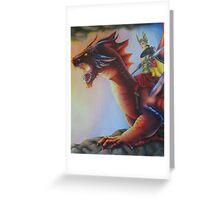 Earth Dragon - Black Book of Arda Greeting Card