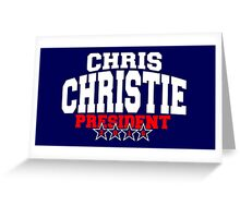 Chris Christie For President 2016 Greeting Card