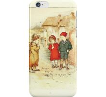 Old Proverbs with New Pictures Lizzie Laweson and Clara Mateaux 1881 0037 Never Buy a Pig in a Poke iPhone Case/Skin