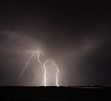 Lightning Strike by Cjr Small Photographer