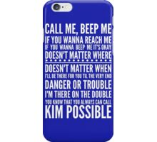 Call me, beep me in white iPhone Case/Skin