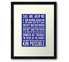 Call me, beep me in white Framed Print